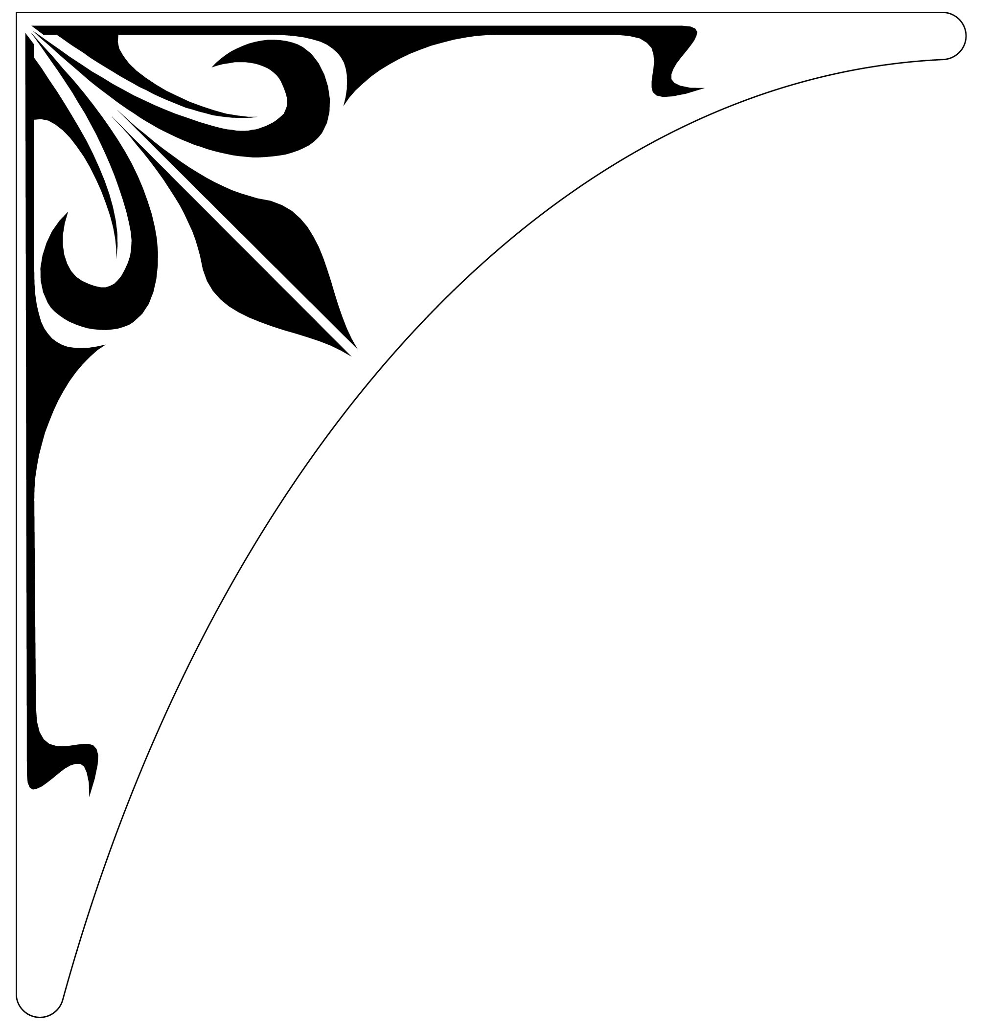 Etched Glass Corner Decals For Windows Doors Mirrors And